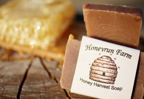 Display honey  harvest soap