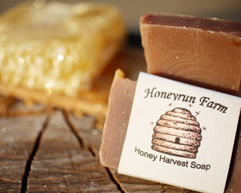 Market card honey  harvest soap