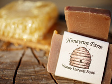 Small honey  harvest soap