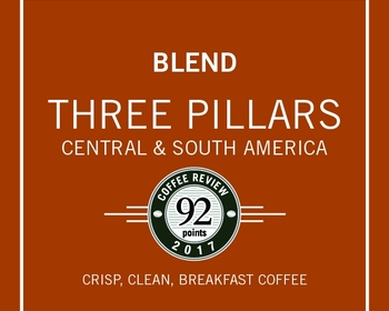 Market card three pillars blend coffee