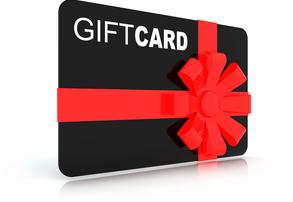 Display gift card