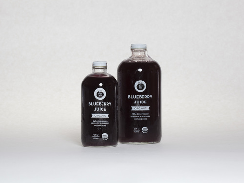 Cold Pressed Organic Heirloom Blueberry Juice