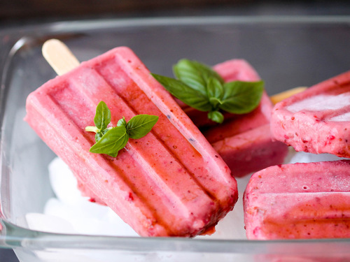 Two Strawberry Popsicles