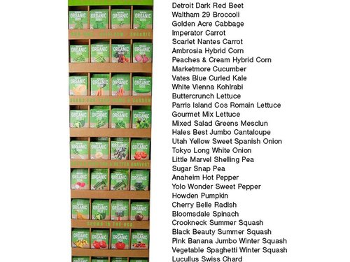 Wholesale Organic Garden Seed Packets