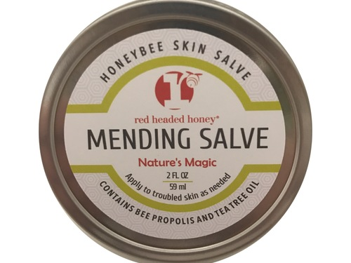 Mending Salve with Tea Tree Oil and Bee Propolis-2 oz Tin