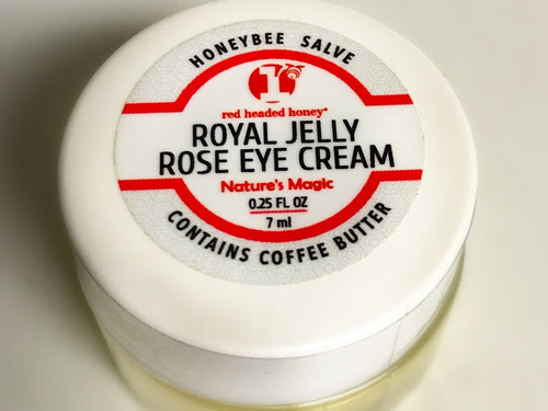Bulgarian Rose Otto & Royal Jelly Eye Cream with Coffee Butter & Vitamin E Oil-.25 oz