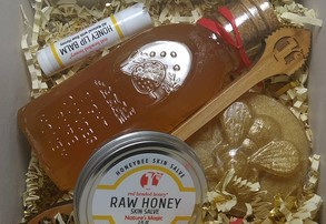 Display honey gift kit with dipper paddle