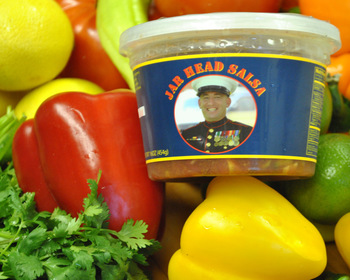 Market card jar head salsa snack kit