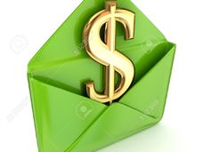 Small 14379949 dollar sign in a green envelope  stock photo cash money delivery