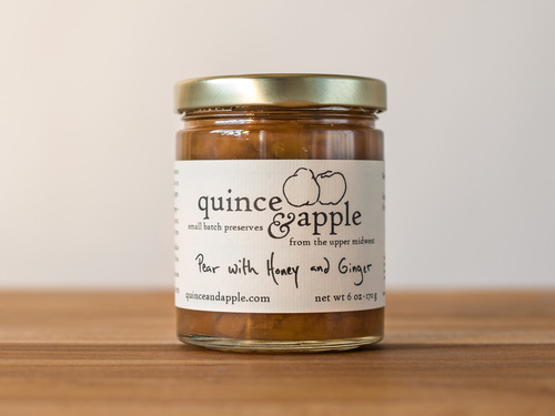 Pear with Honey and Ginger Preserves