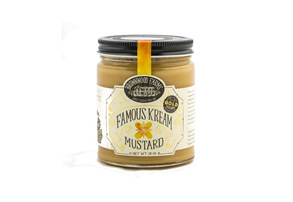 Display famous kream mustard