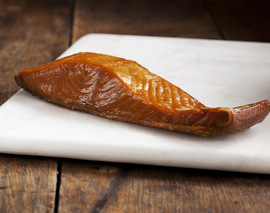 Card image smoked wild keta salmon portion   northwest blend