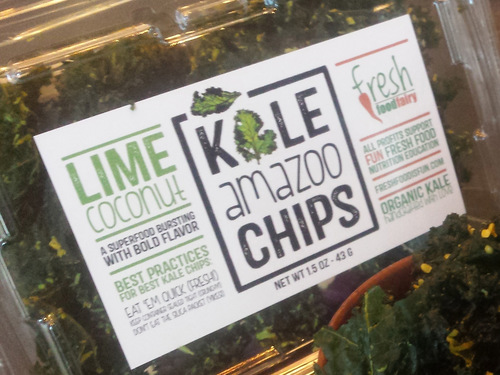Lime Coconut Kale Chips
