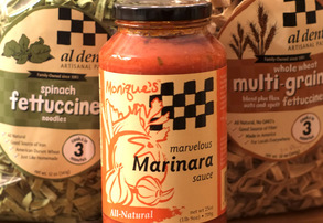 Display marinara sauce