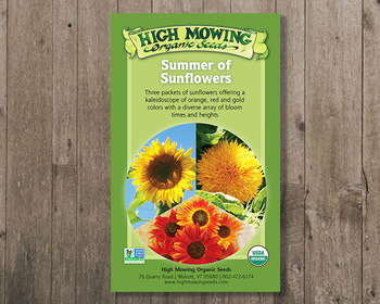 Market card summer of sunflowers gift box