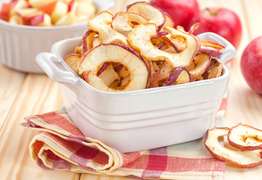 Display homemade apple chips