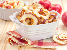 Small homemade apple chips