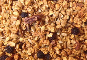 Display lime blueberry cayenne granola