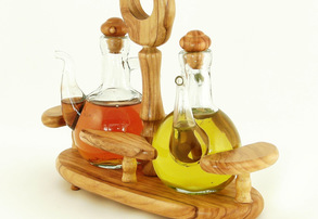 Display olive oil   vinegar set