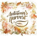 Square autumns harvest square label2